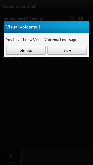 New Voicemail Notification