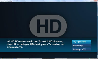 All HD services are in use