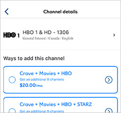 Manage TV services