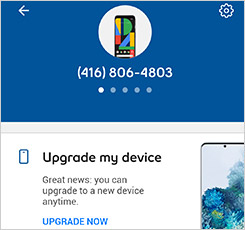 Manage device screen in MyBell self serve app