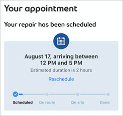 Manage your appointments