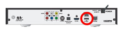 USB port on the back of the HD receiver