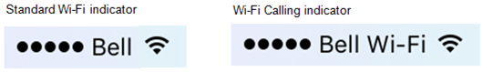iPhone Wi-Fi Calling indicator