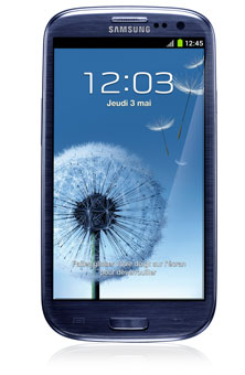 Samsung Galaxy S III<sup style='font-size:0.5em'>MC</sup>